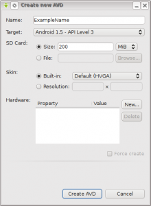 android create avd
