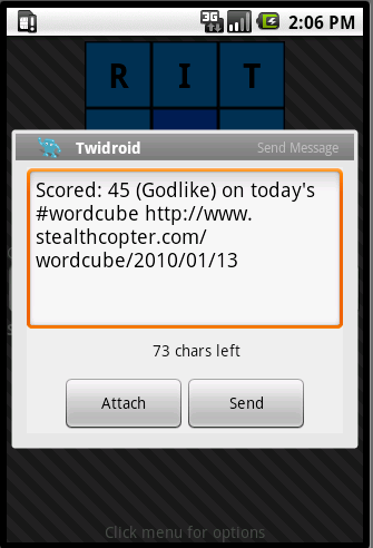wordcube twitter integration