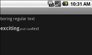 styled android text