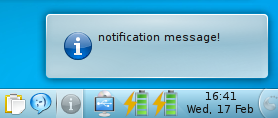 kdialog passive popup notification