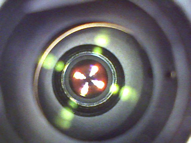 Magnified image of a digital camera