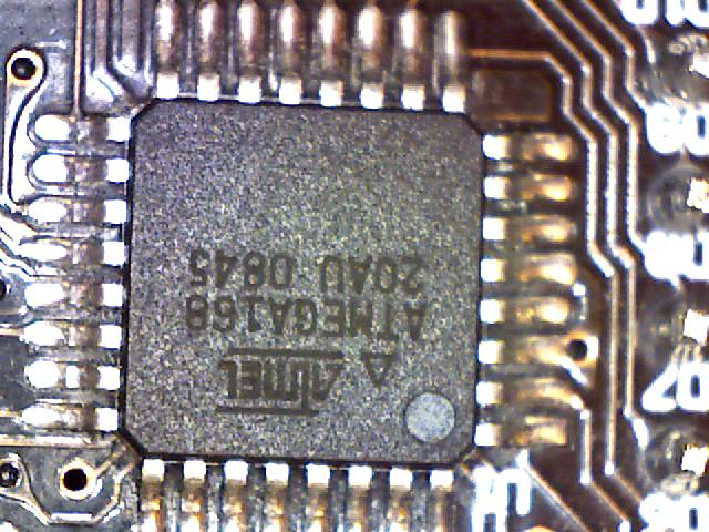 Magnified image of an another integrated circuit chip