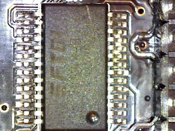 Magnified image of yet an another integrated circuit chip