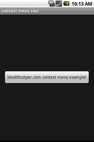 Android context menu example