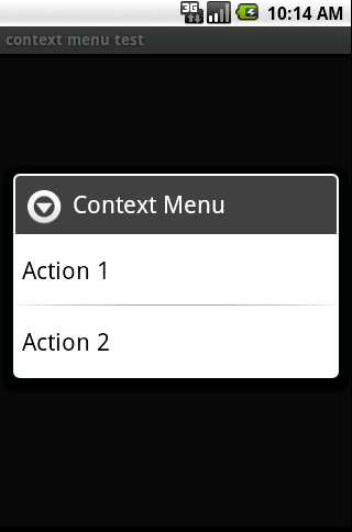 android context menu example