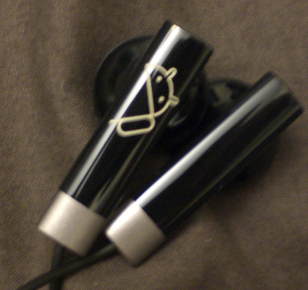 Nexus One handsfree earphones with logo