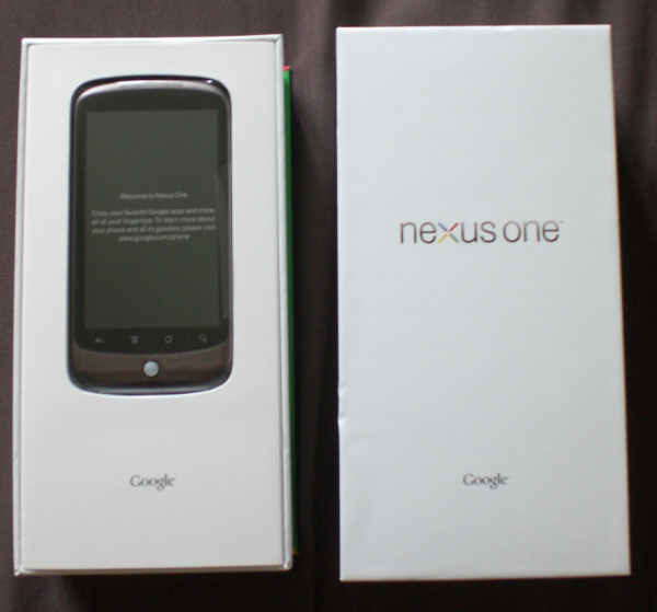 Nexus One box with lid off