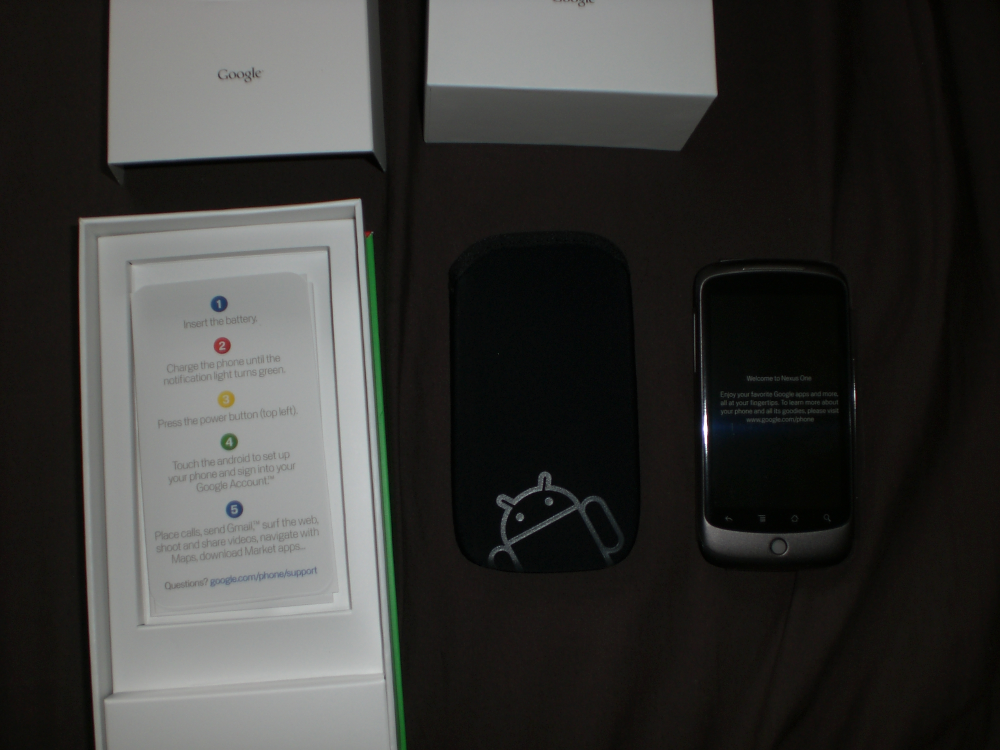 Nexus One unpacked