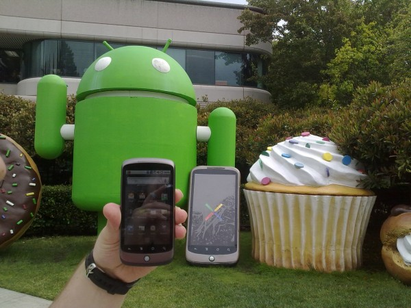 Nexus one against the nexus one statue