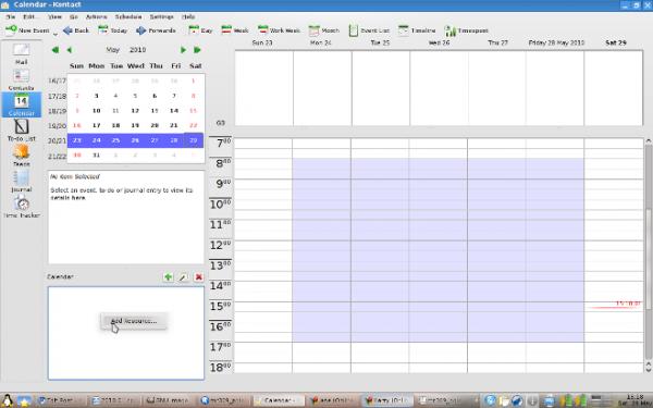 Google Caldendar integration with Kontact Korganiser 1