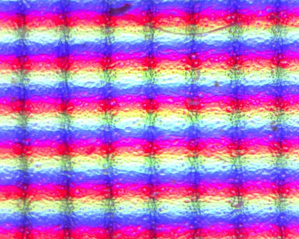 Cool Focusing on pixels from a TFT High magnification