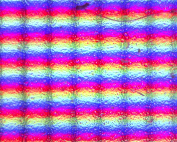 More Cool Focusing on pixels from a TFT High magnification