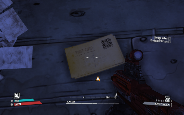 Borderlands hidden QR codes