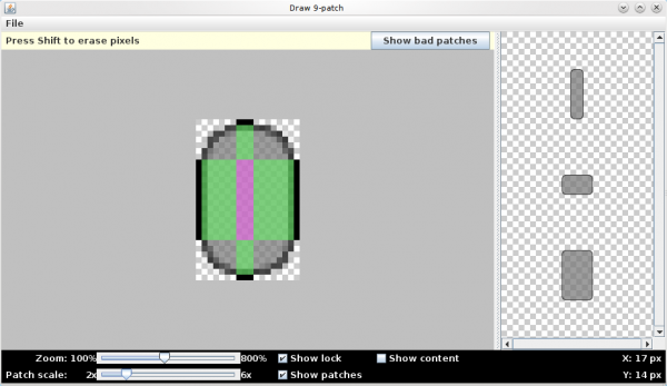 draw9patch tool button android