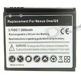 Nexus one high capacity battery (2600mAh)
