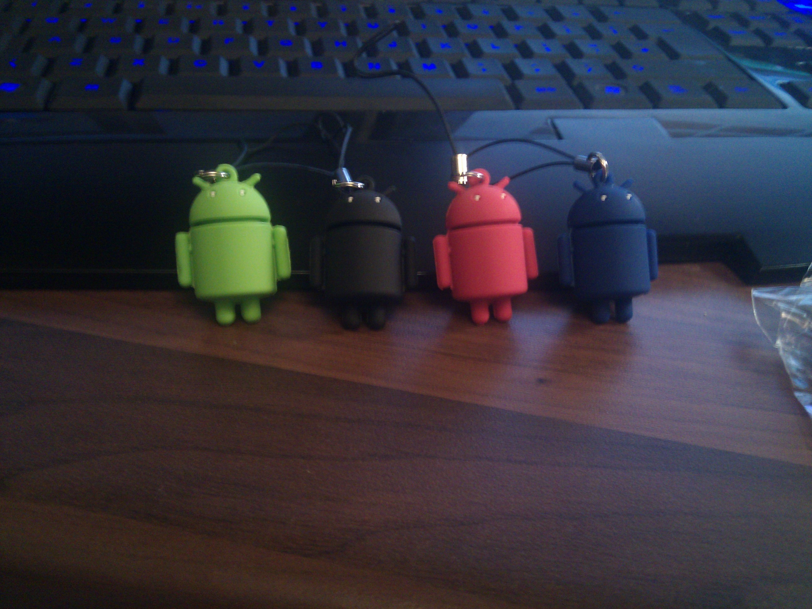 multi-color android keyrings