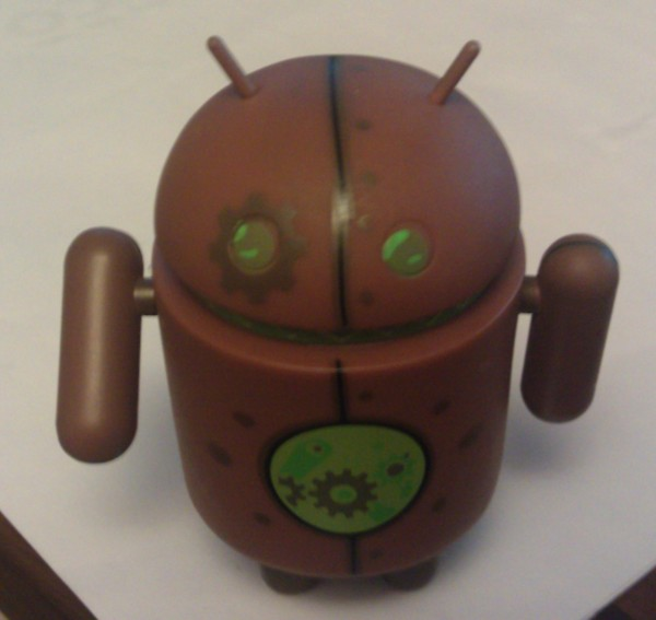 Copperbot dead zebra android figure