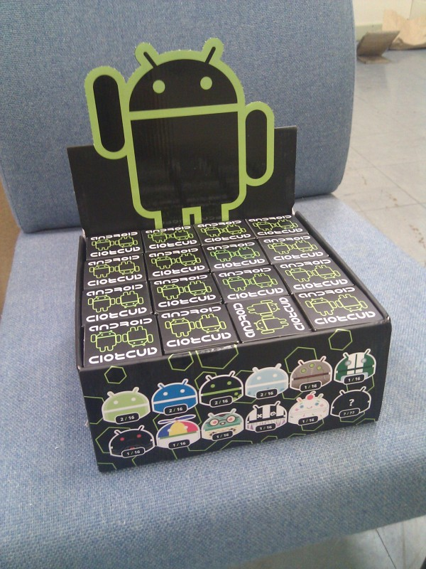 Box of 16 dead zebra android collectibles