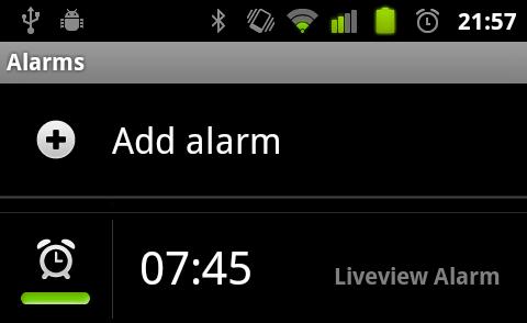 Alarm set via plugin