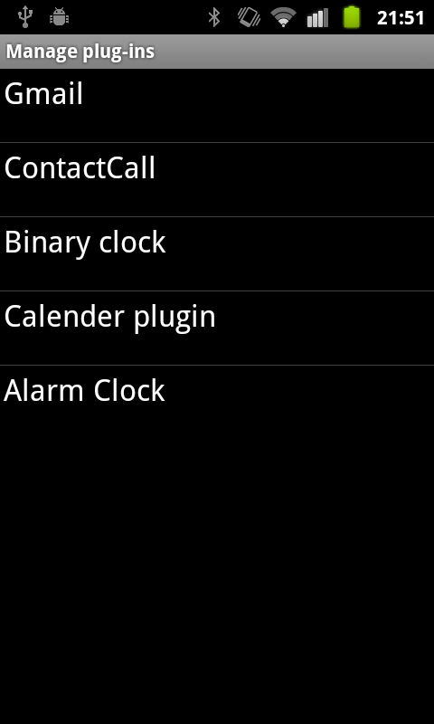 LiveView plugin settings