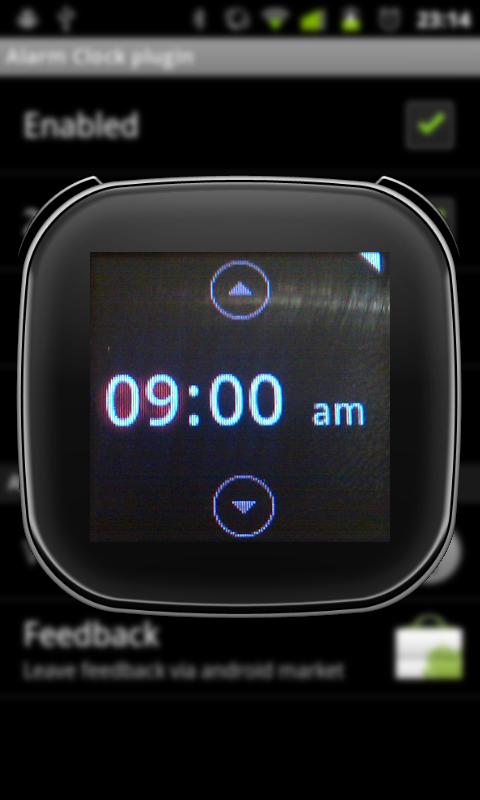 Sony Ericsson LiveView Alarm Clock Plugin