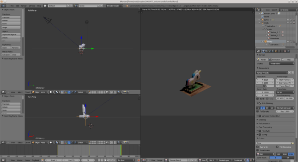 Screenshot of object in blender